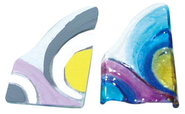 文化終須傳承,創新點燃新契機  正當我們對著絢爛斑駁色彩的琉璃感到驚艷時,林大哥順手拿起一旁釉料塗抹在剛未完成上色的玻璃上,為我們示範琉璃製作過程,就在我們這一問一答間,林大哥的詳述顯現出他對於琉璃工藝資深的經驗和知識,談到琉璃工藝文化的傳承更是娓娓道來,從語氣中感受到林大哥那份關心和擔憂,他表示多年前曾在學校任教,在教學的過程,他明白教育對於琉璃工藝技術傳承的重要性,心中也產生一股使命感,驅使他想將這延續千百年珍貴傳統技藝傳承下去,也認為琉璃創作的過程中,需要多增添「設計、創意」的元素,嘗試新的突破,打破大家將琉璃工藝視為傳統產業的刻板看法,讓產業復興延續新風貌。   甘樂誌   甘樂文創   甘之如飴,樂在其中