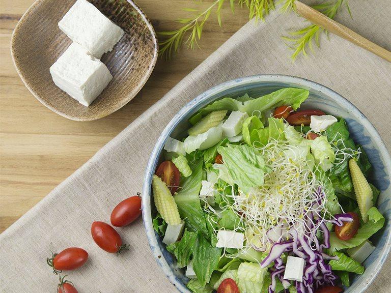 Handmade Tofu Salad - Use non-GMO soybeans