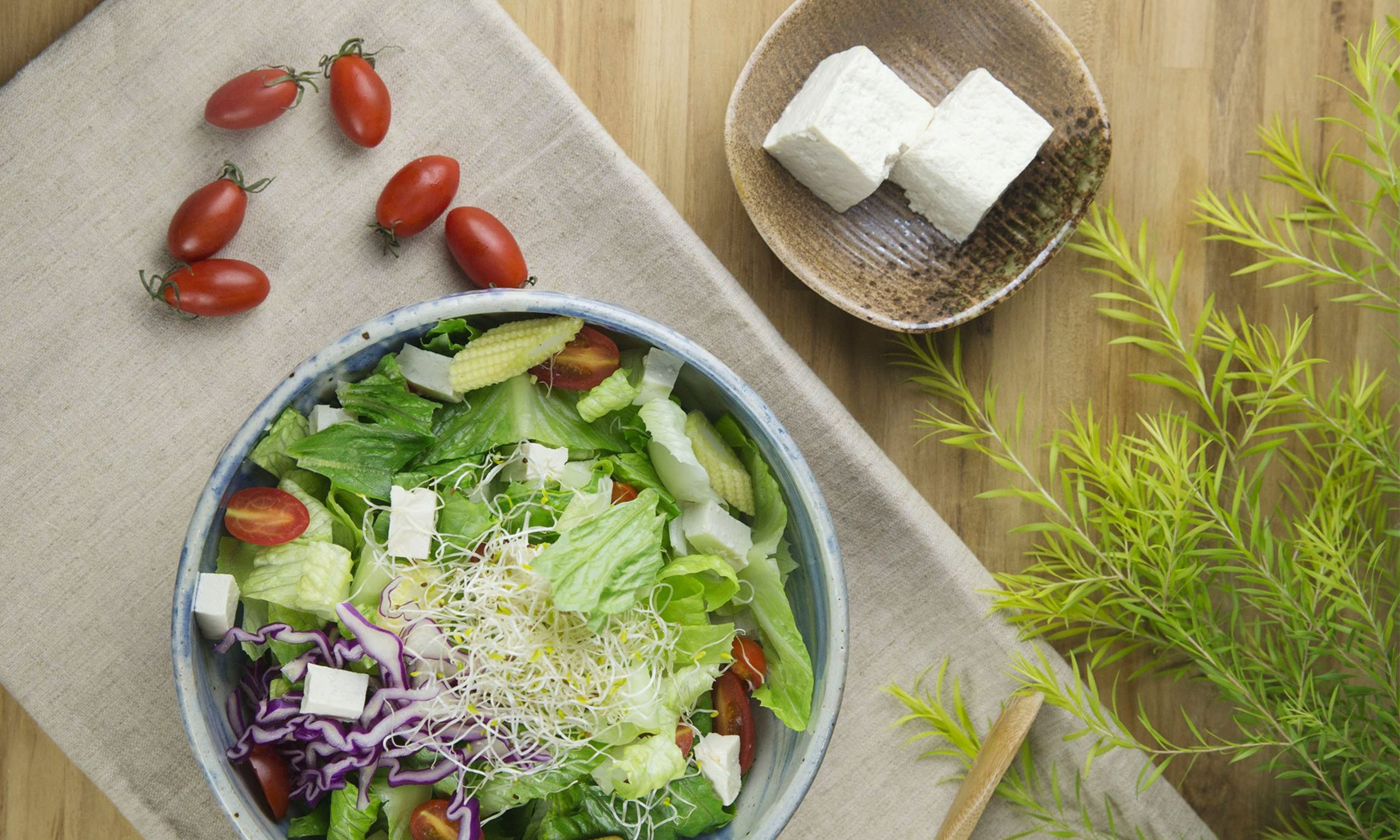 Handmade Tofu Salad - Use non-GMO soybeans