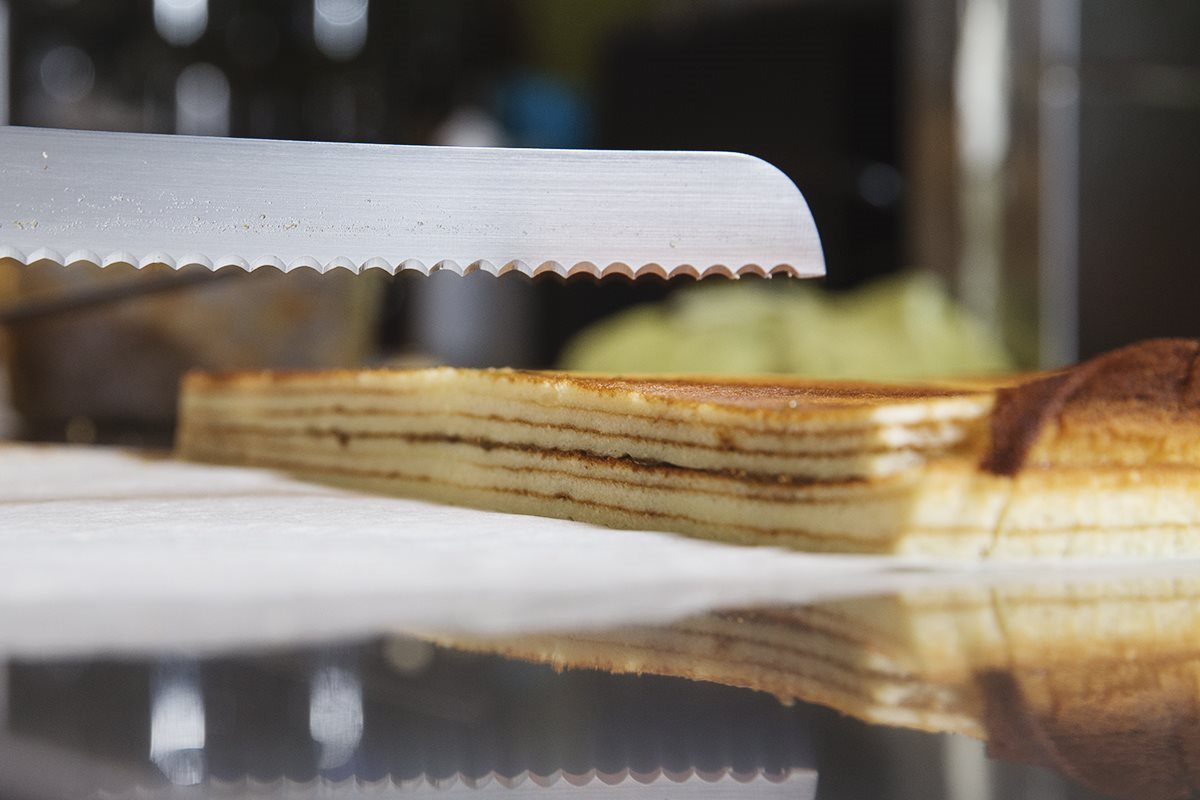 Plum Mille Crepe Cake - The Best Taipei dessert cafe in Sanxia