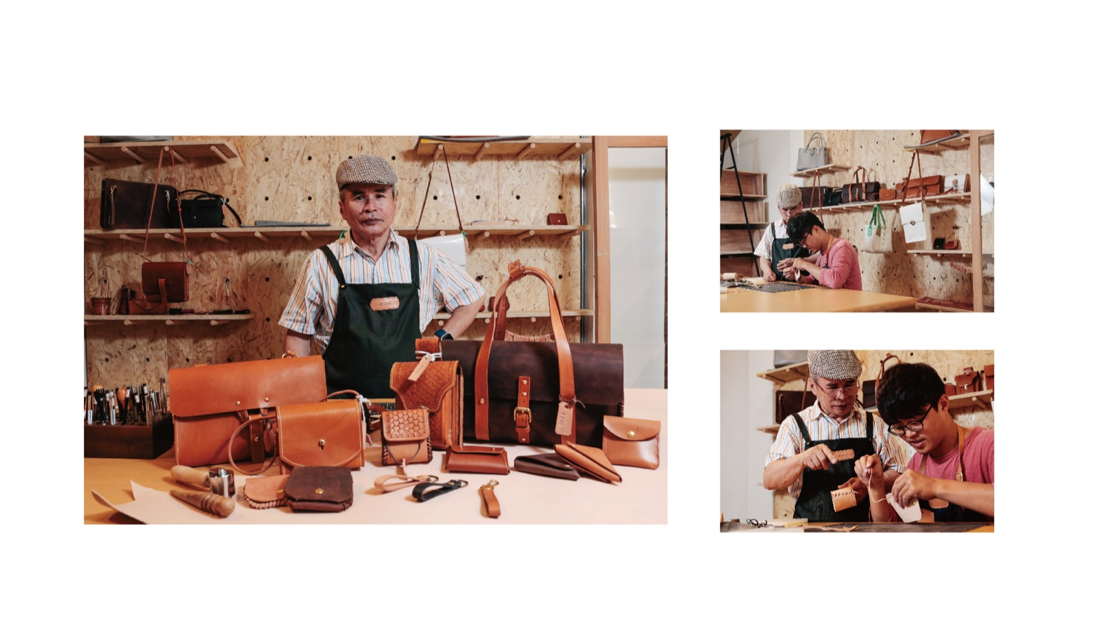 """The design of the brand logo is inspired by the faces of mischievous children; stitching elements are added and the color scheme uses the color of leather and the lively yellow to express the practice of Leather-Playing Children in the life ethos of """"retired yet moving forward"""".    Taipei Cultural experience   CAN Culture"""