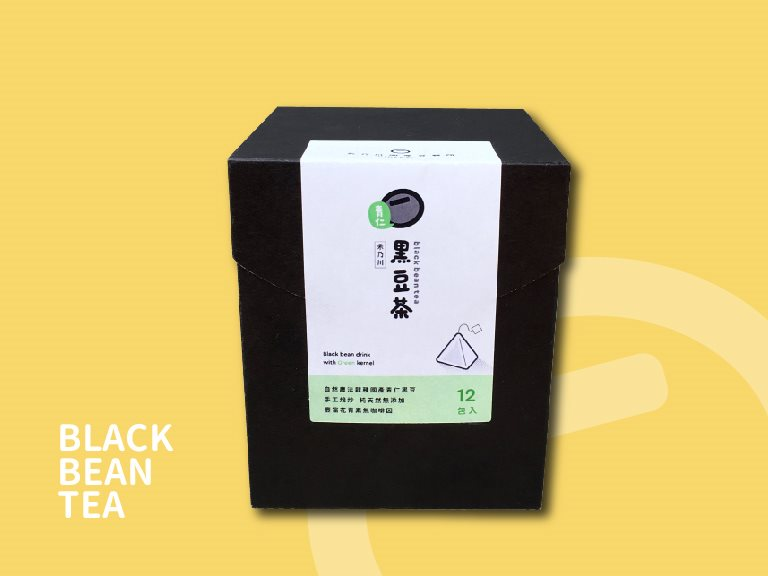 焙炒青仁黑豆茶茶包 12包入 - 細火手工焙炒
