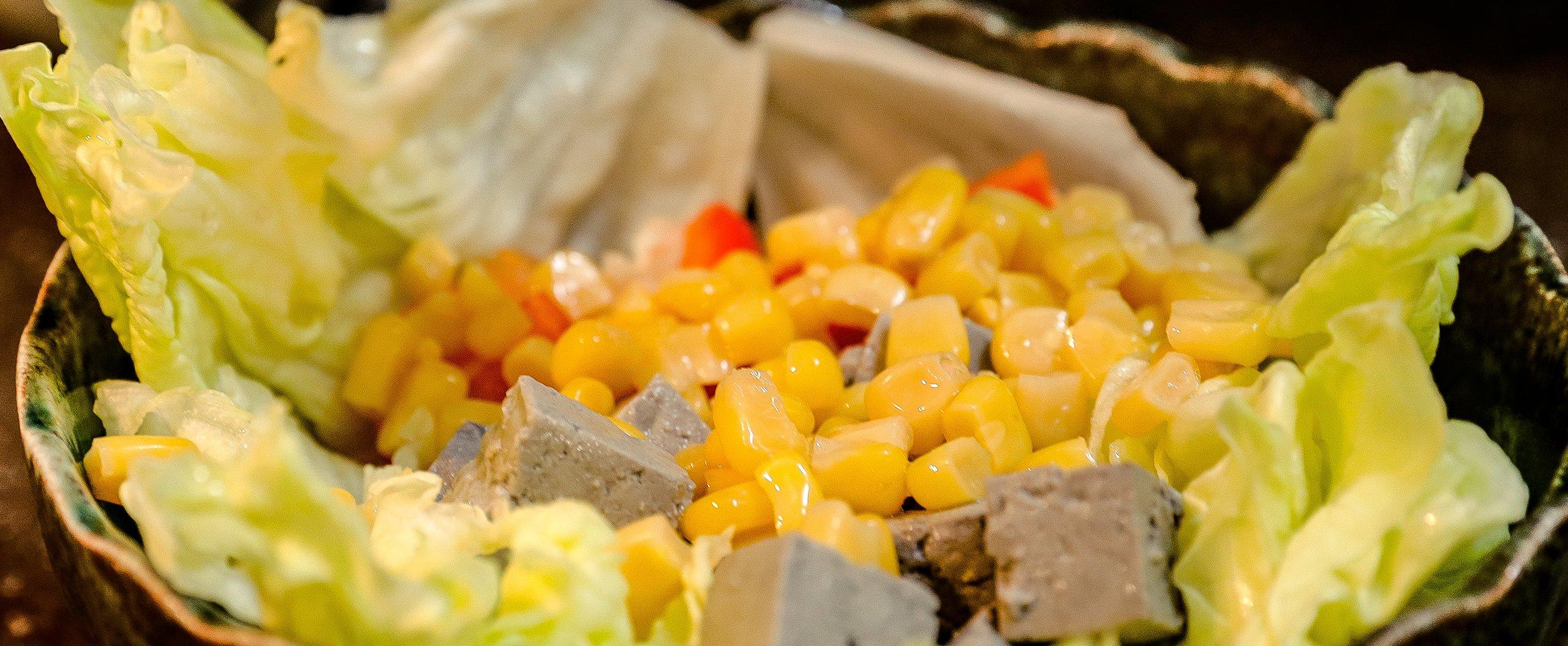 黑白豆腐水果佐味噌溜檸檬沙拉,夏日特製清爽料理 | 禾乃川小廚房