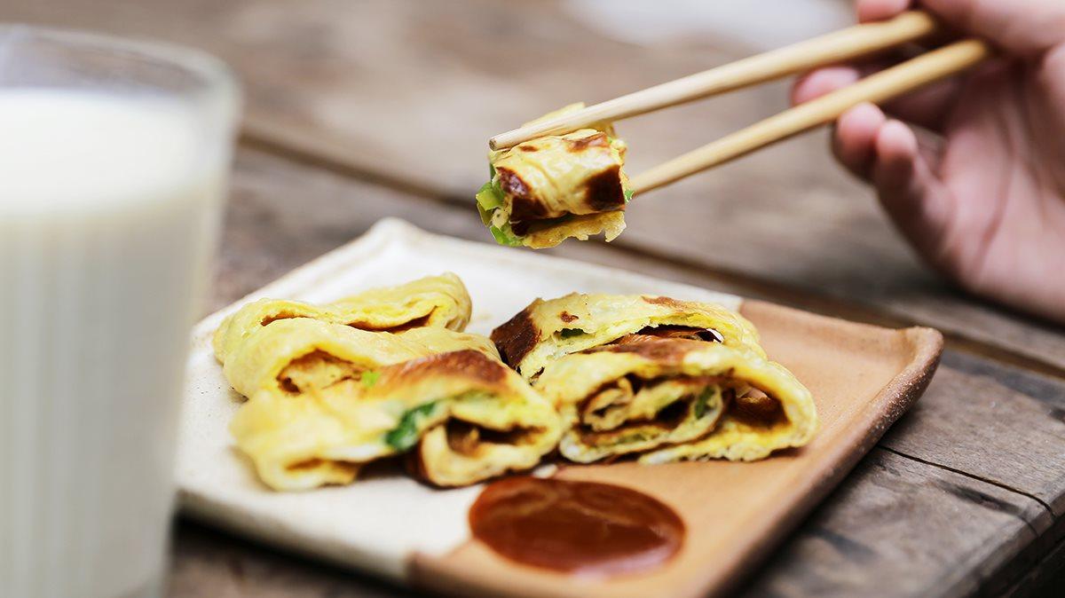手工豆皮蛋餅,給你的早晨滿滿的蛋白質|禾乃川小廚房