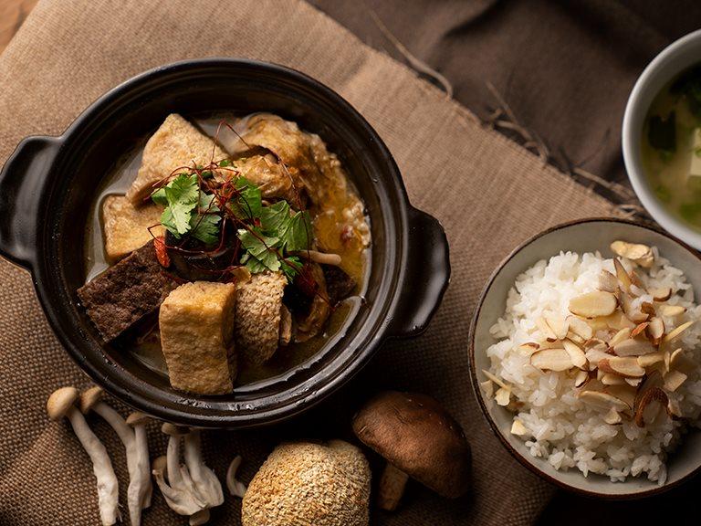 麻油鮮菇豆腐煲(純素)