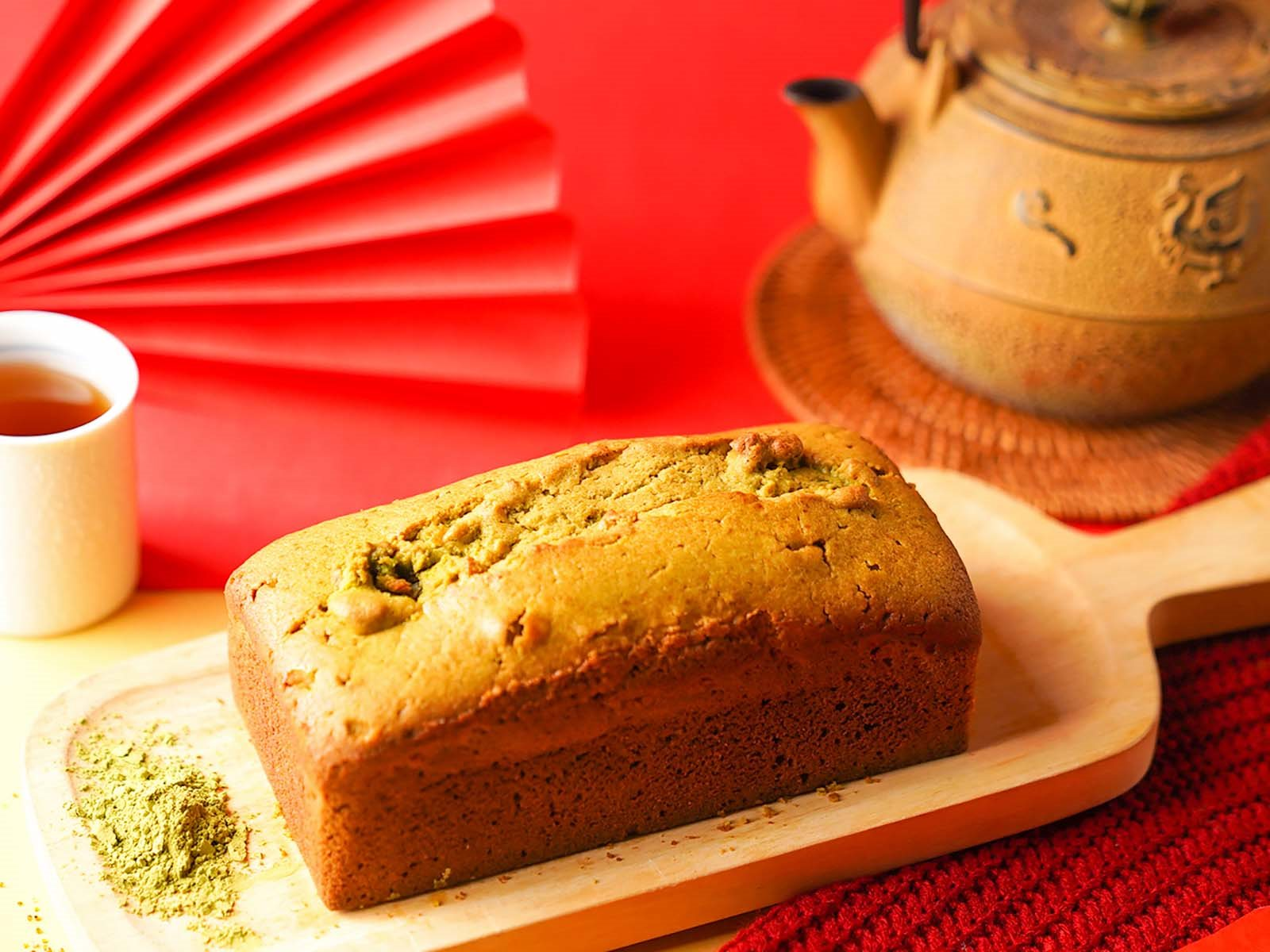 不只金牛角,三峽伴手禮推薦禾乃川三峽碧螺春抹綠磅蛋糕