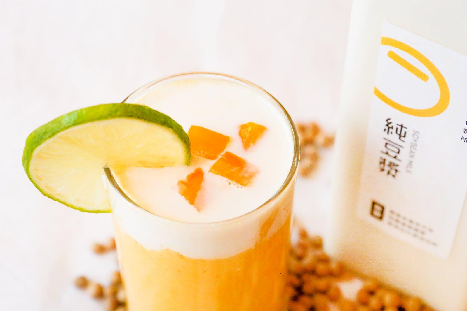 芒果控必喝,季節限定特調:盛夏芒柳活力豆漿|禾乃川小廚房